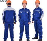 Quần áo công nhân pha màu