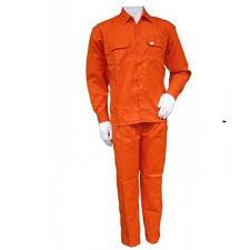 Đồng phục công nhân kaki cam