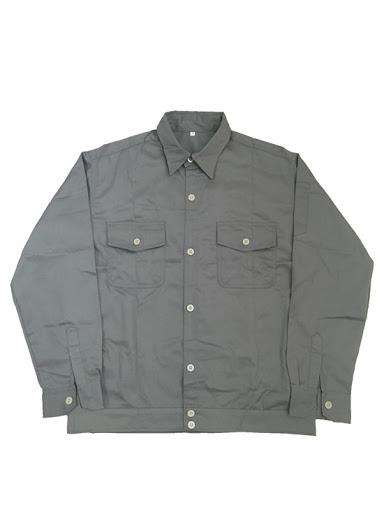 áo công nhân màu ghi chì