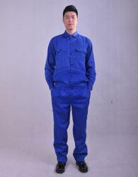 áo công nhân màu xanh